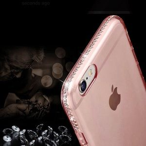 Accessories - Clear pink iPhone 8 case